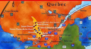Carte de Lanaudière